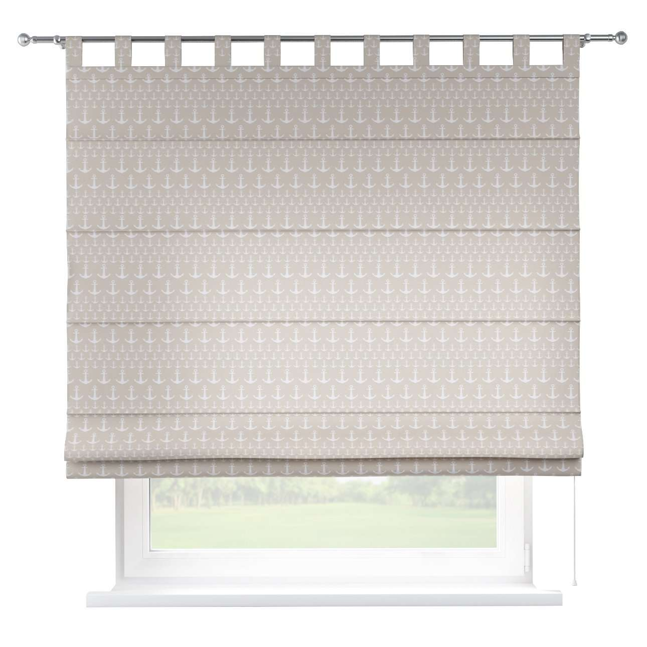 Verona tab top roman blind 80 x 170 cm (31.5 x 67 inch) in collection Marina, fabric: 140-63