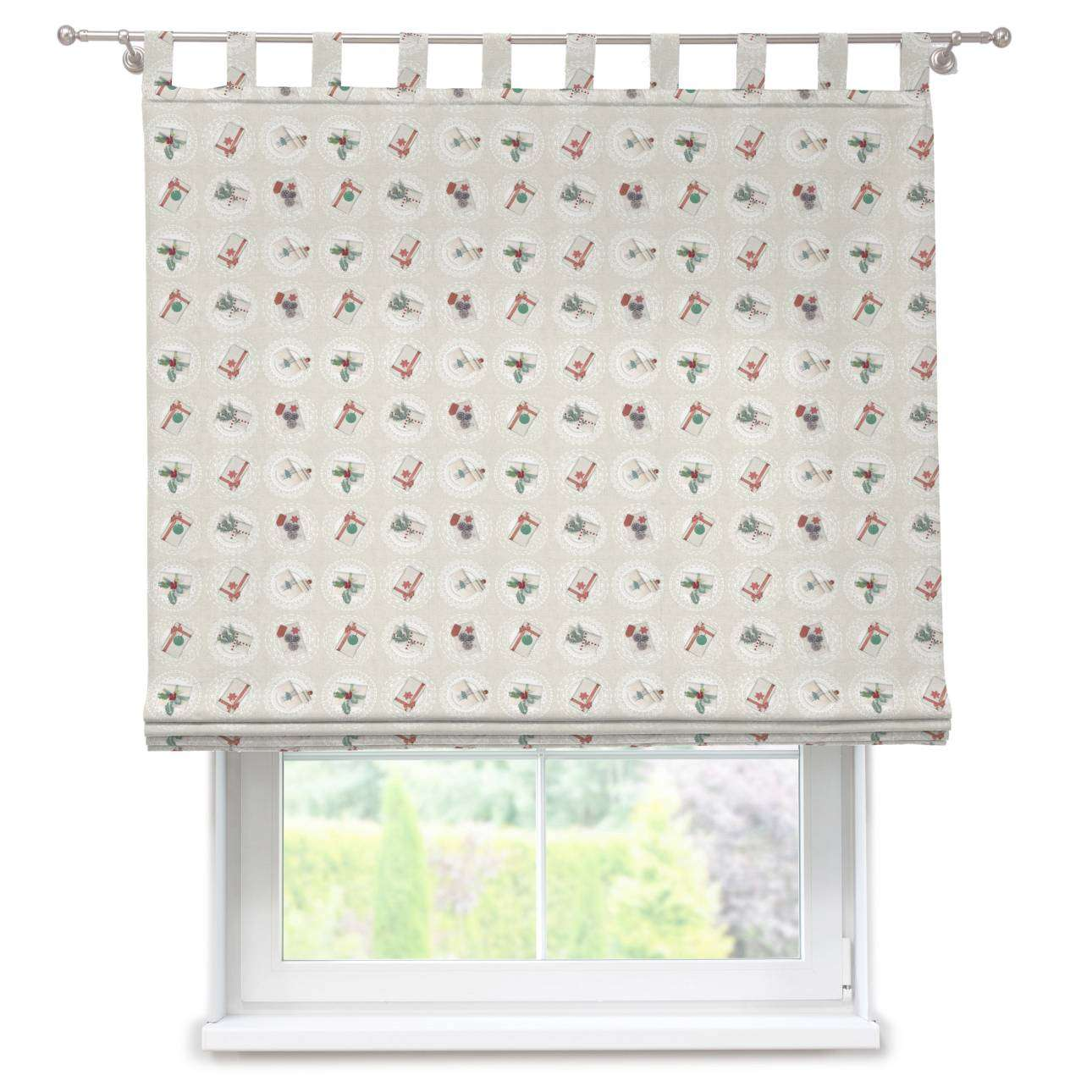 Verona tab top roman blind 80 x 170 cm (31.5 x 67 inch) in collection Christmas , fabric: 629-30