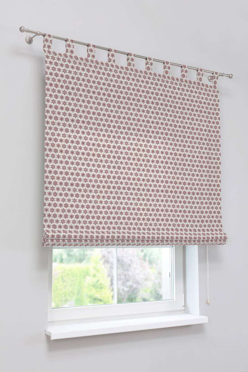 Verona tab top roman blind 80 x 170 cm (31.5 x 67 inch) in collection Christmas , fabric: 630-22