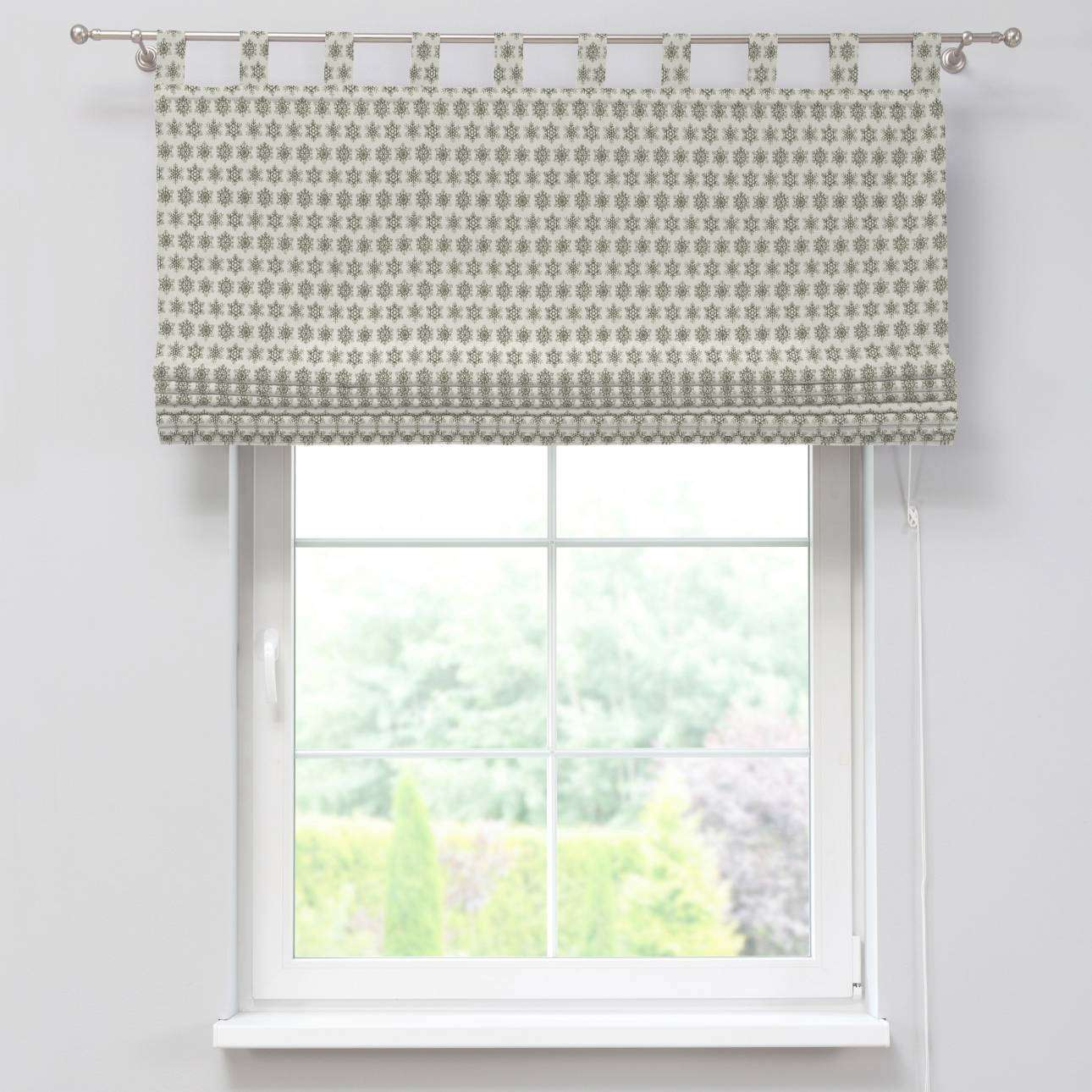 Verona tab top roman blind 80 x 170 cm (31.5 x 67 inch) in collection Christmas , fabric: 630-26