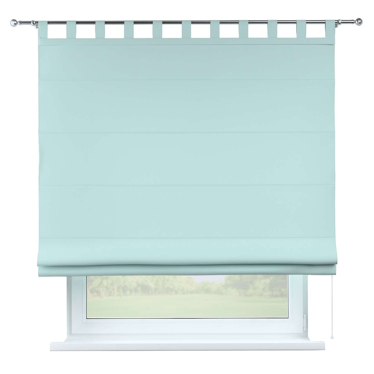 Verona tab top roman blind 80 × 170 cm (31.5 × 67 inch) in collection Panama Cotton, fabric: 702-10
