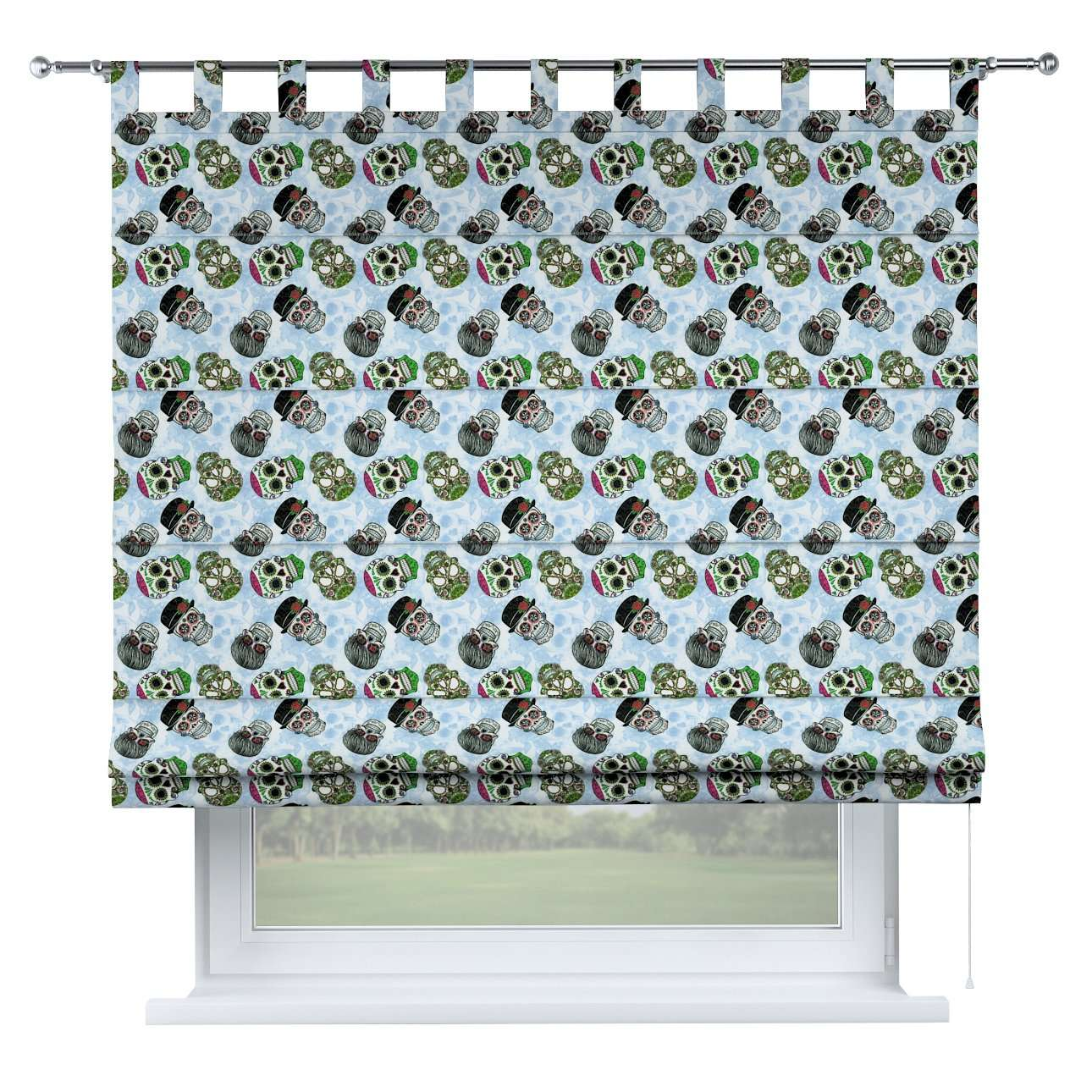 Verona tab top roman blind 80 x 170 cm (31.5 x 67 inch) in collection Freestyle, fabric: 141-01