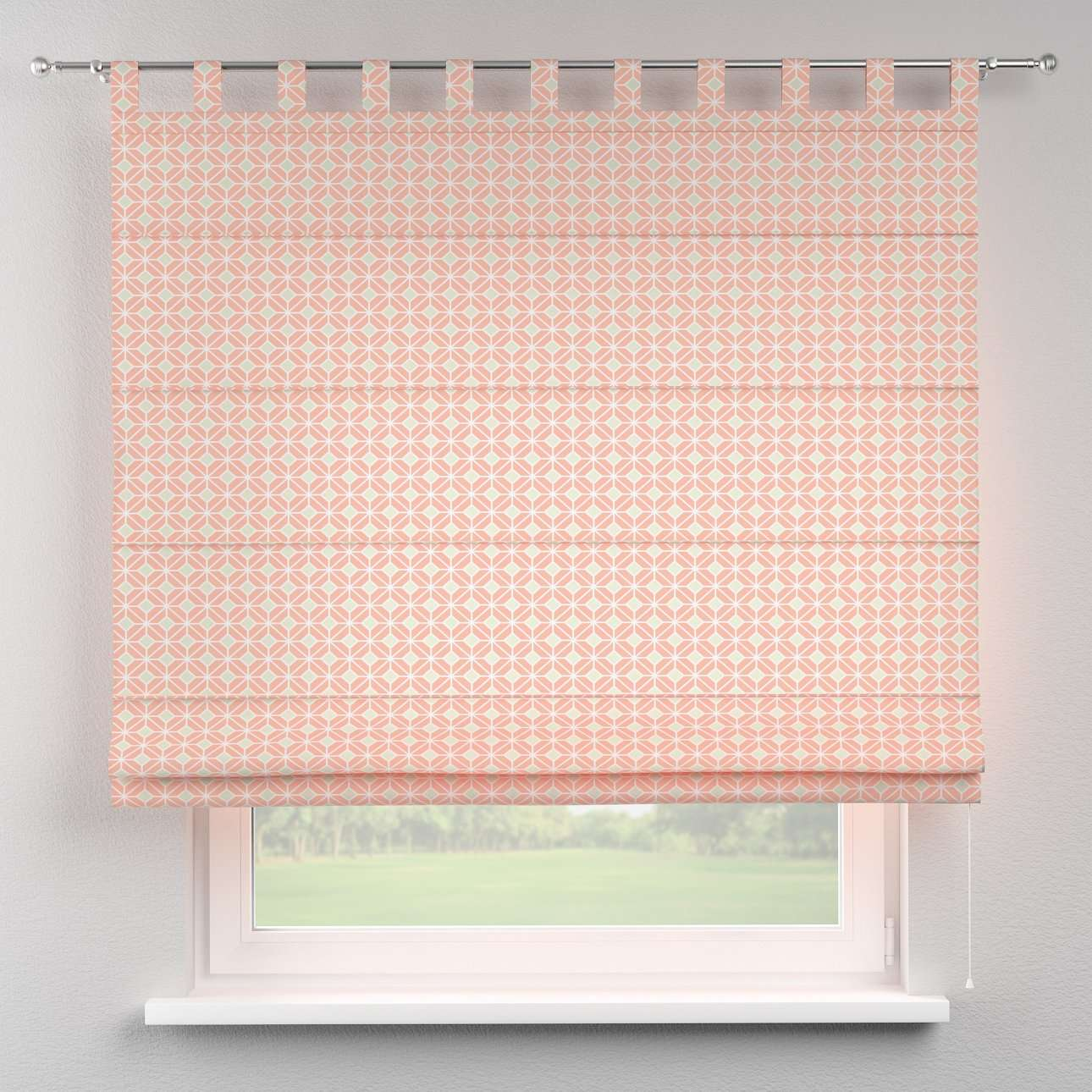 Verona tab top roman blind in collection Geometric, fabric: 141-48