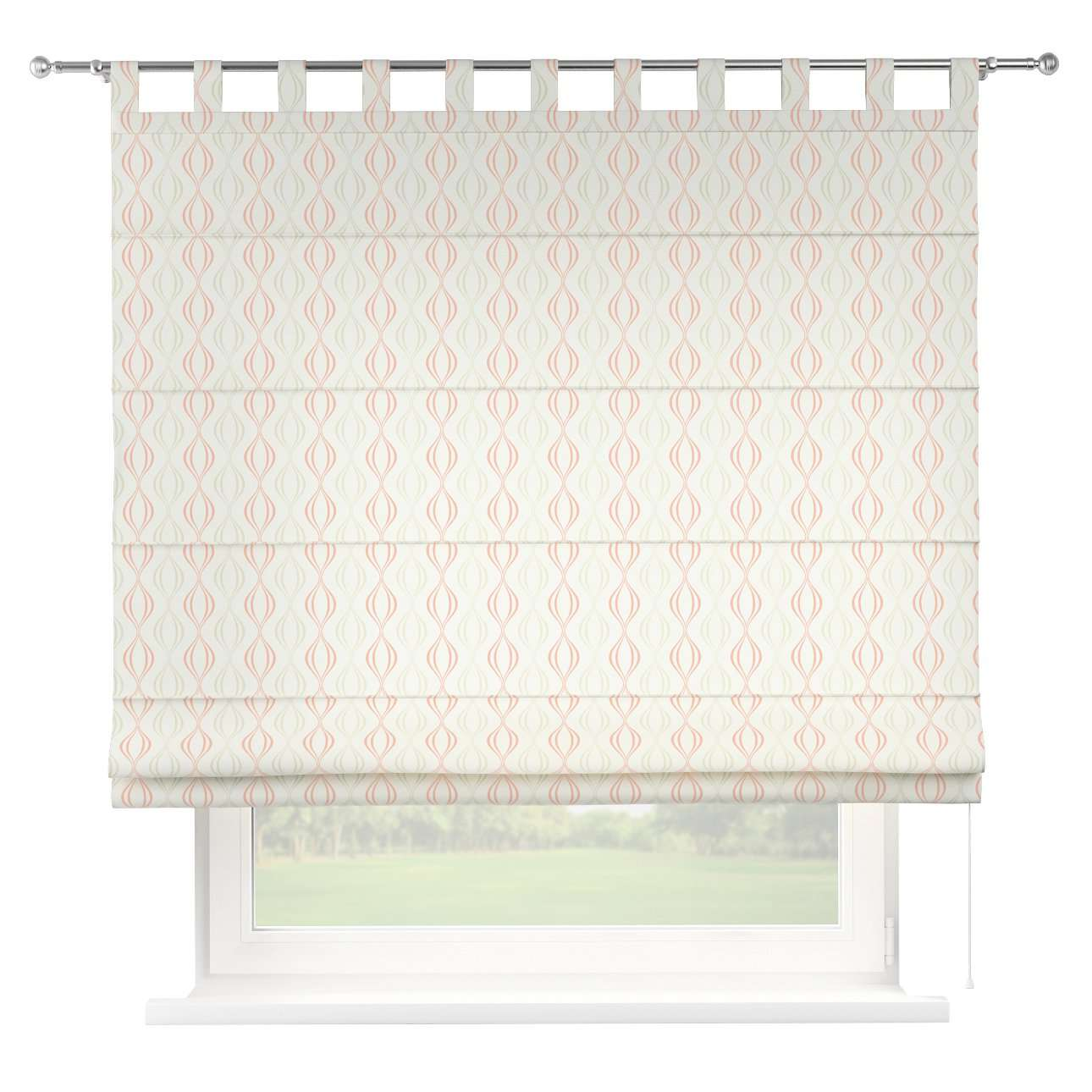 Verona tab top roman blind in collection Geometric, fabric: 141-49