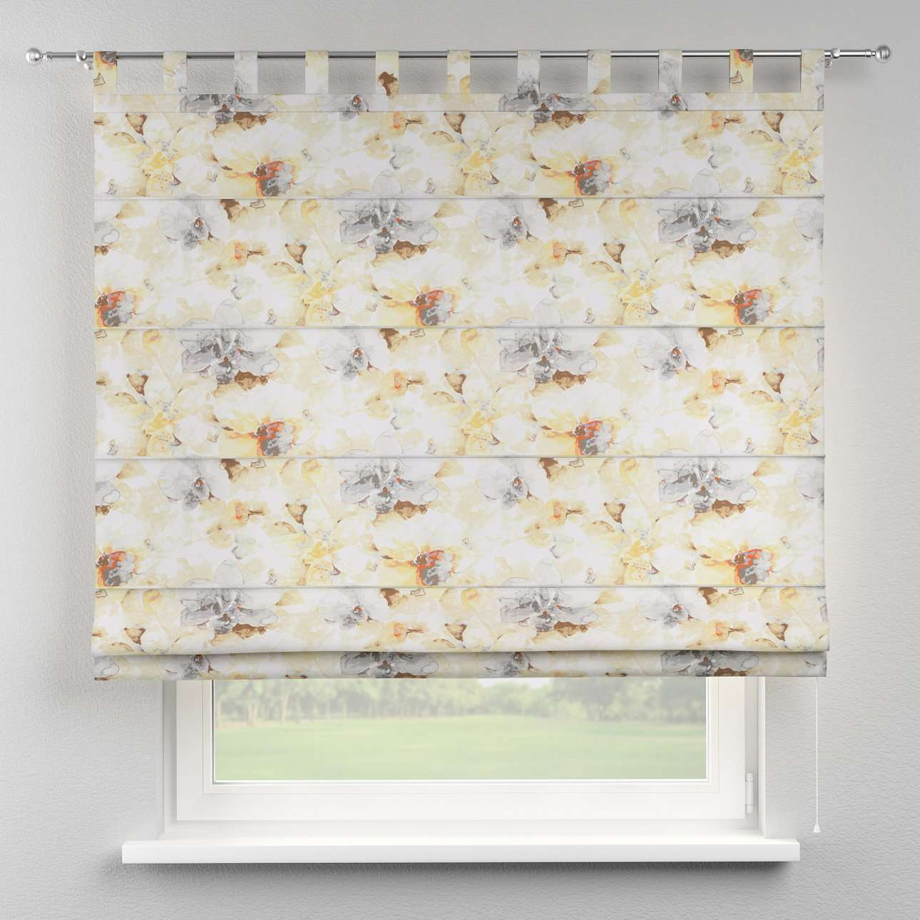 Verona tab top roman blind 80 x 170 cm (31.5 x 67 inch) in collection Acapulco, fabric: 141-33