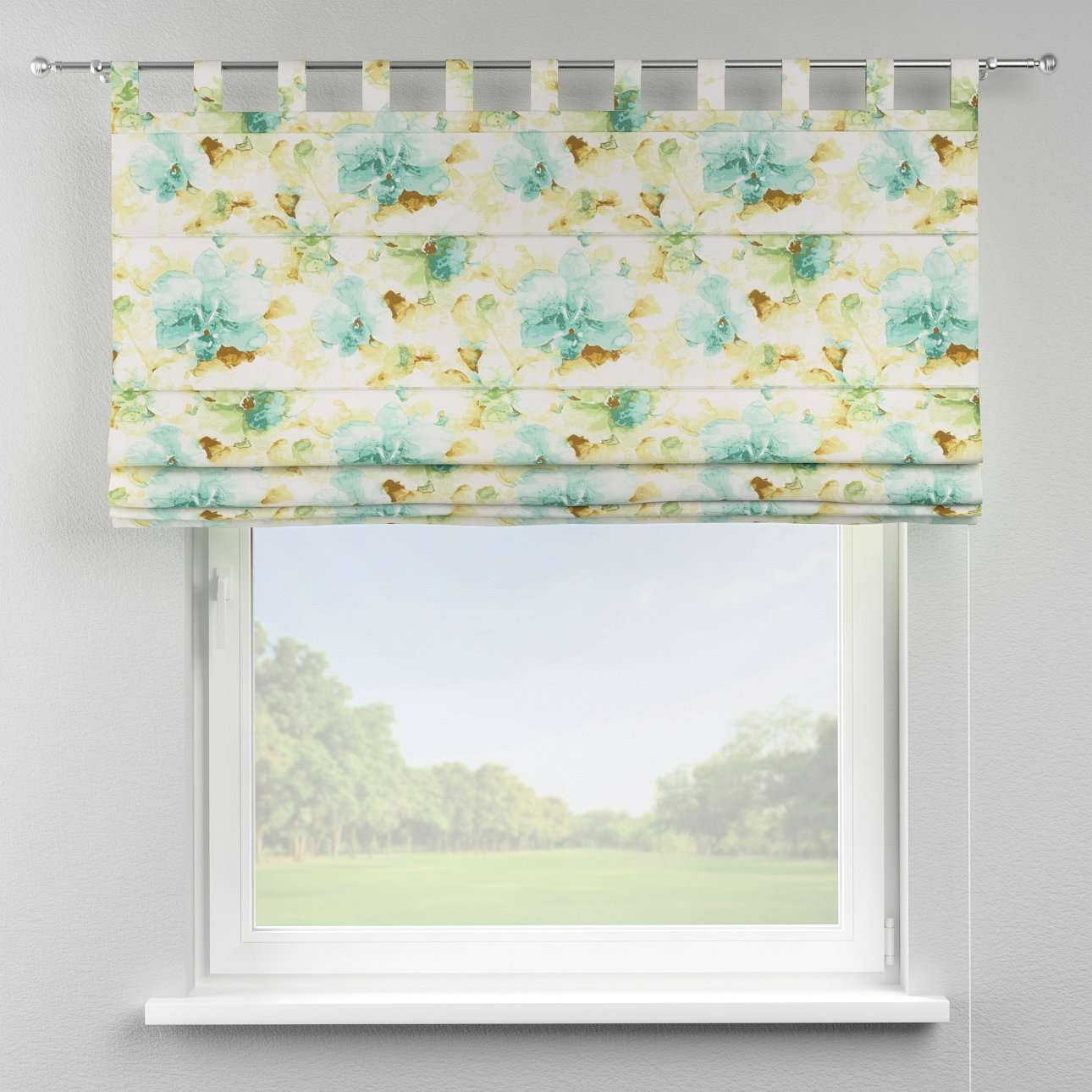 Verona tab top roman blind 80 × 170 cm (31.5 × 67 inch) in collection Acapulco, fabric: 141-35