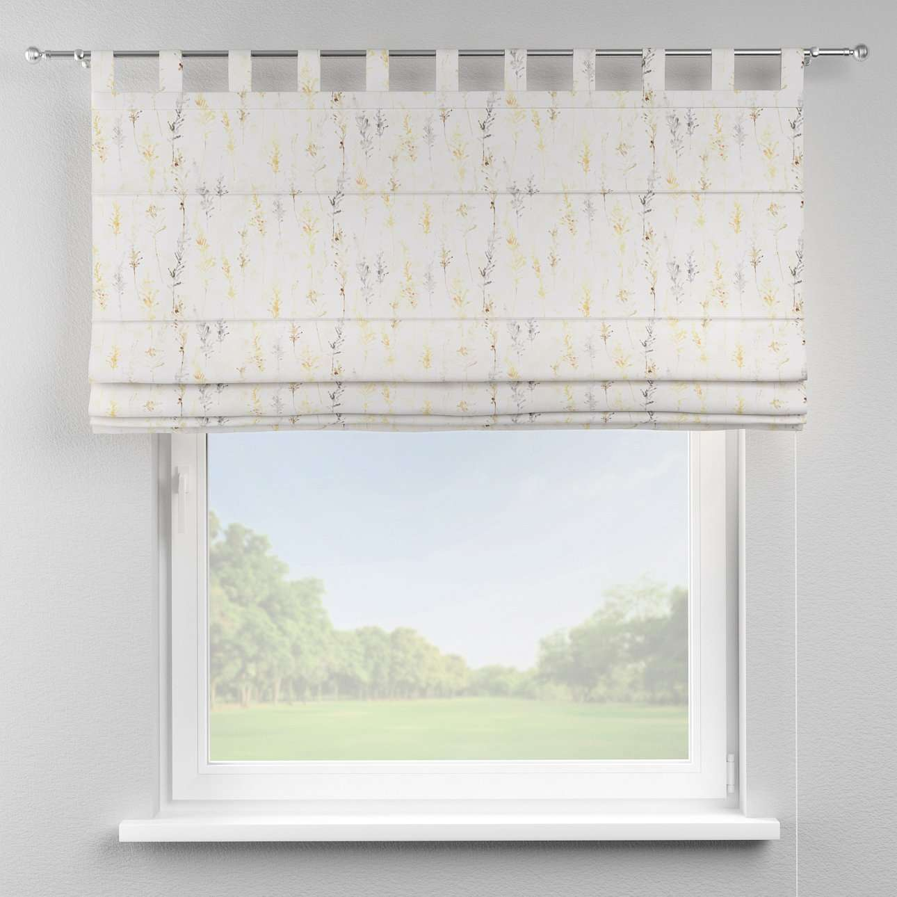 Verona tab top roman blind 80 x 170 cm (31.5 x 67 inch) in collection Acapulco, fabric: 141-36