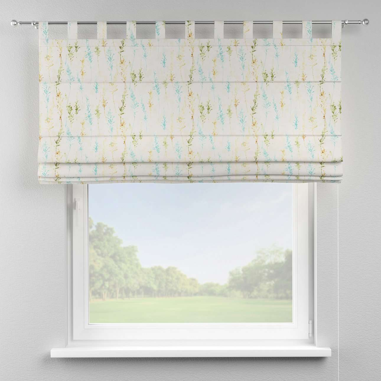 Verona tab top roman blind in collection Acapulco, fabric: 141-38