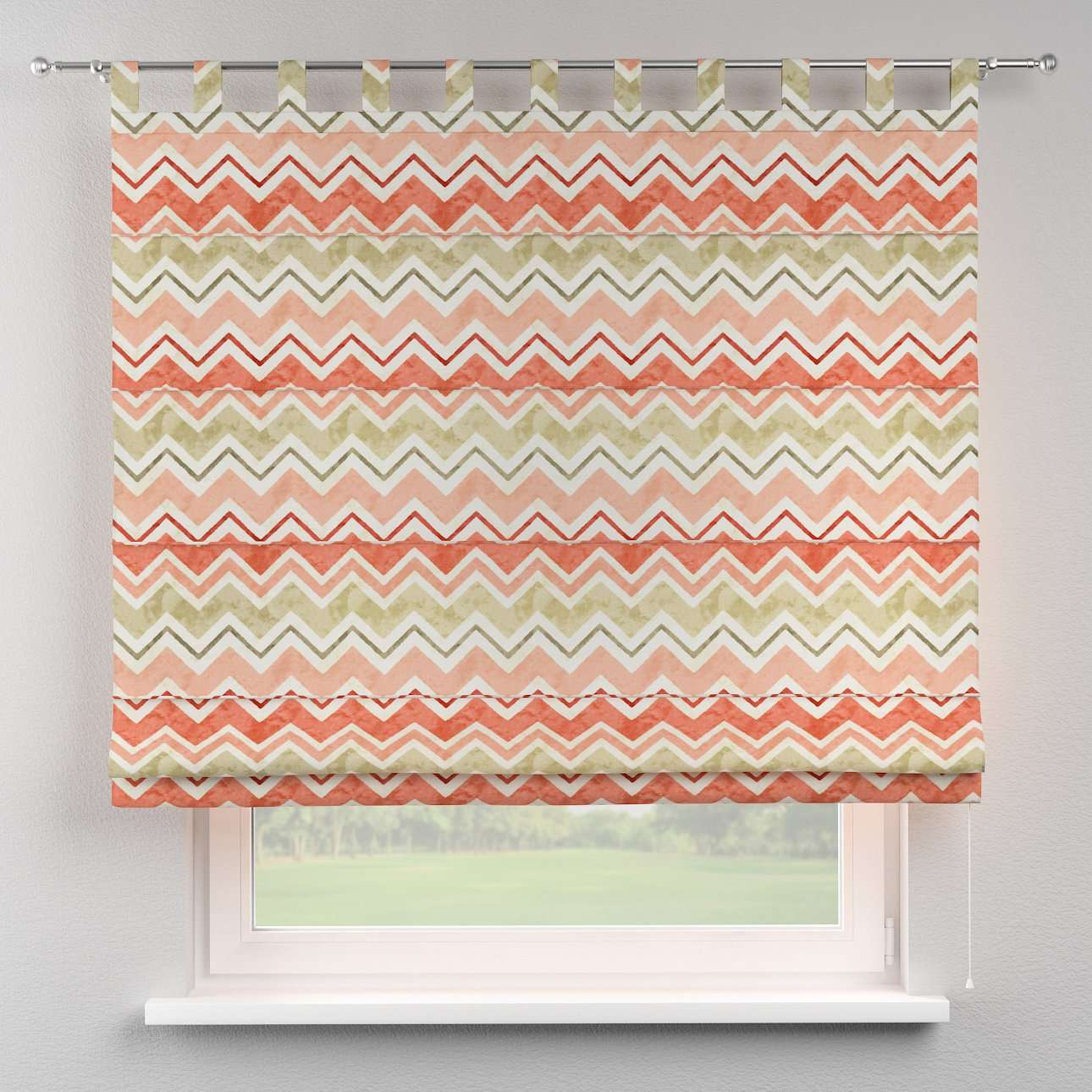 Verona tab top roman blind 80 x 170 cm (31.5 x 67 inch) in collection Acapulco, fabric: 141-40
