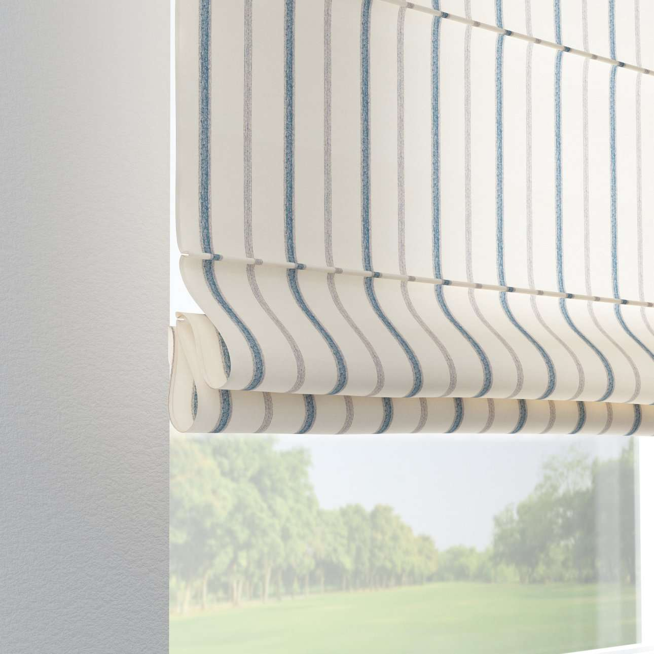 Verona tab top roman blind 80 x 170 cm (31.5 x 67 inch) in collection Avinon, fabric: 129-66