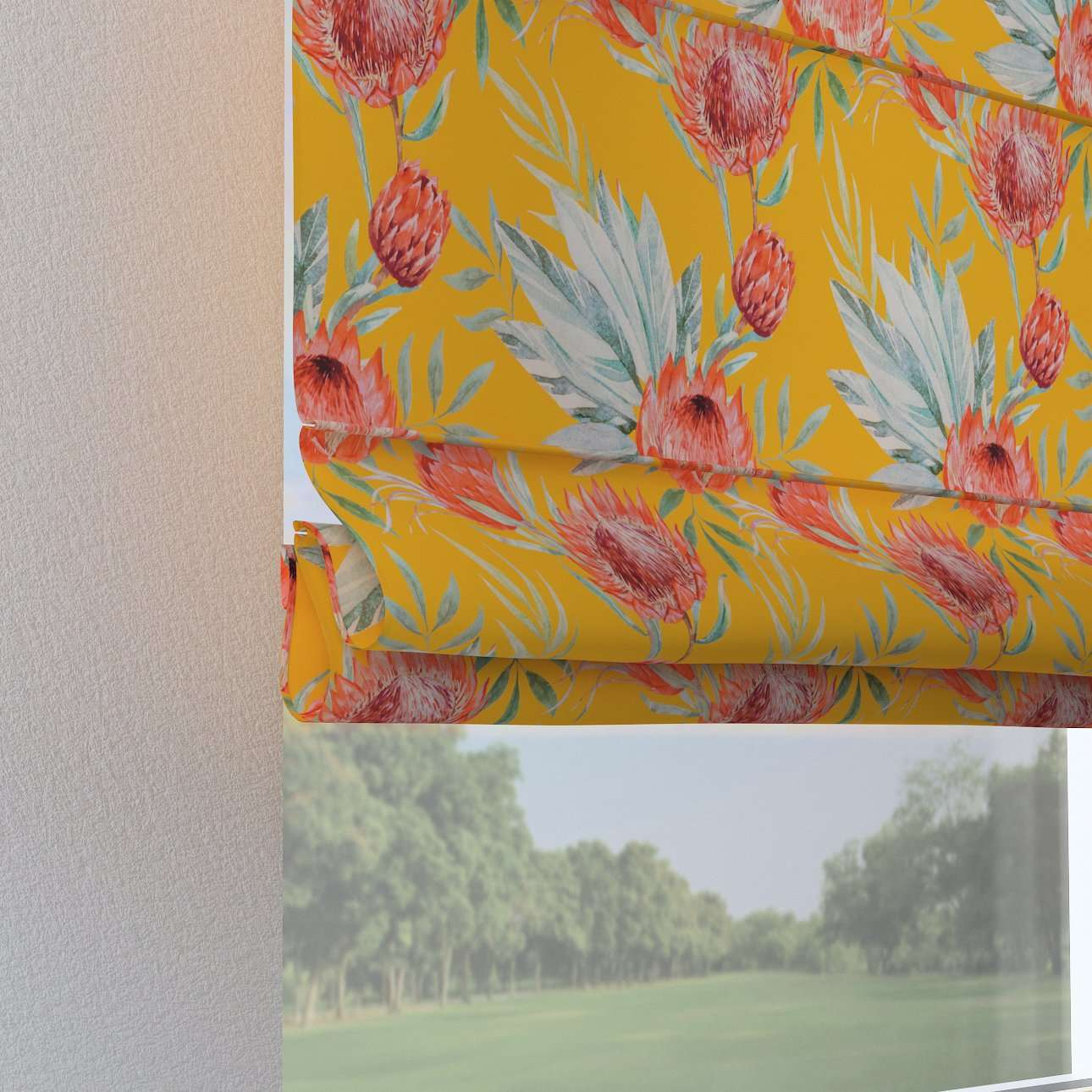 Verona tab top roman blind 80 × 170 cm (31.5 × 67 inch) in collection New Art, fabric: 141-58