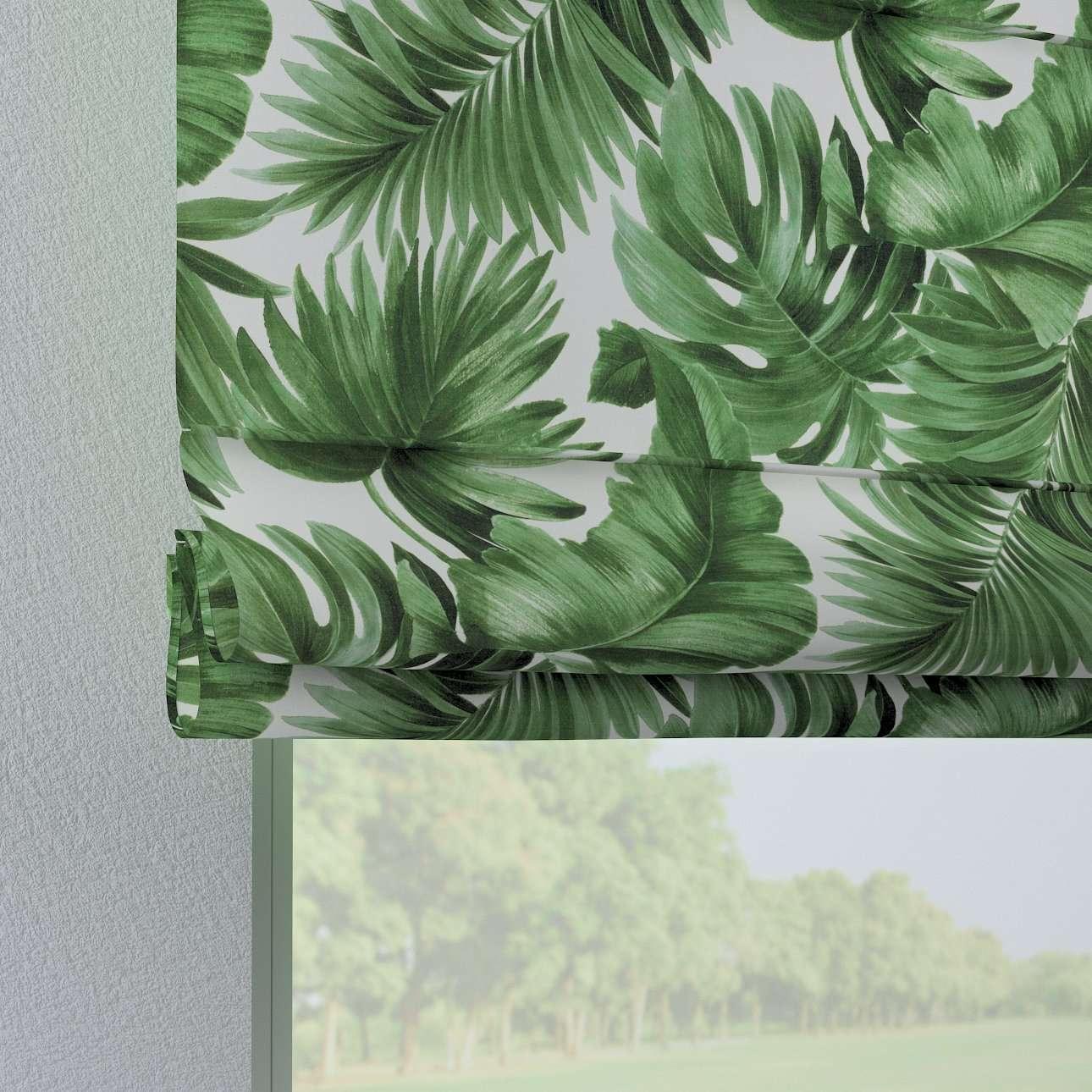 Verona tab top roman blind in collection Tropical Island, fabric: 141-71
