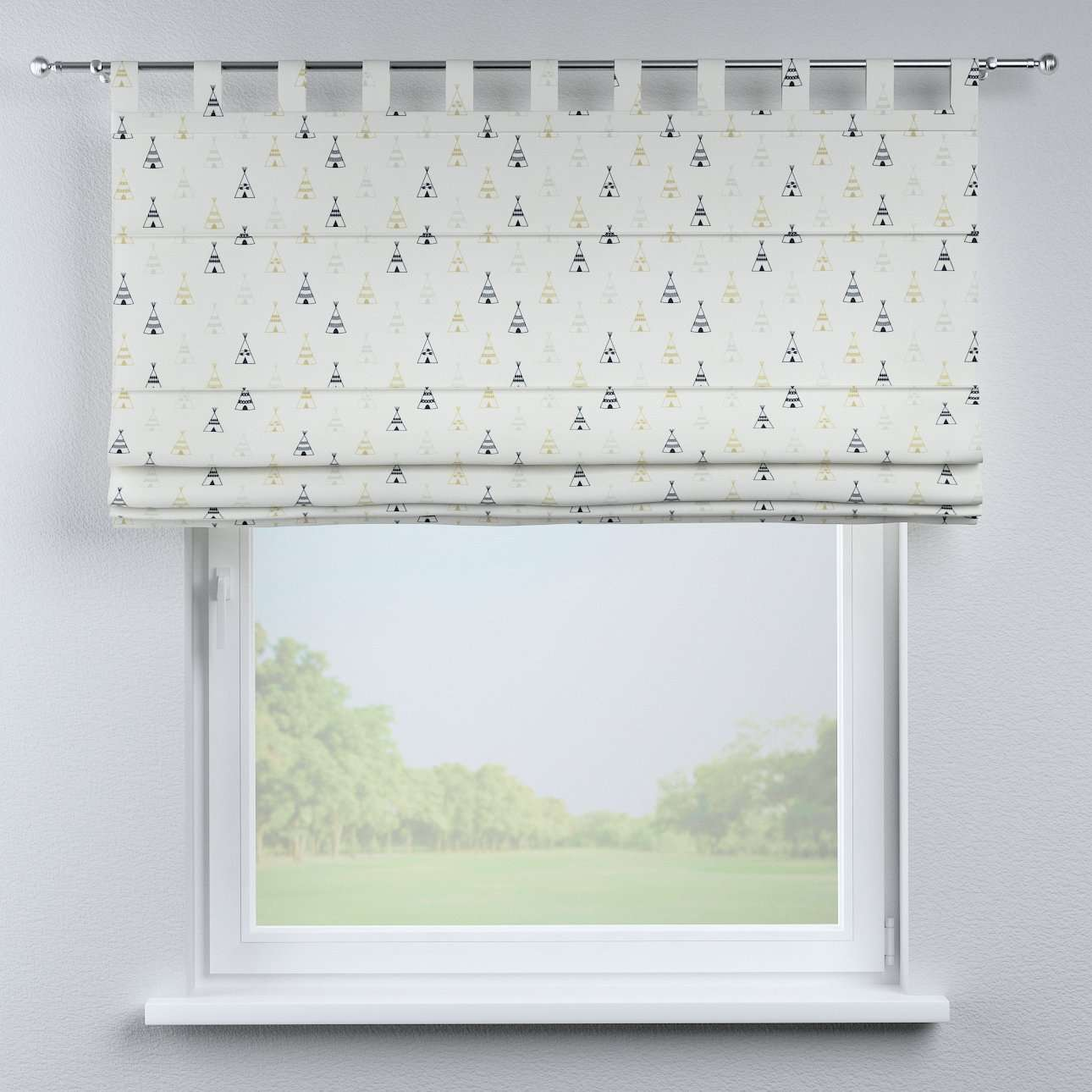 Liftgardin Verona<br/>Med stropper til gardinstang 80 × 170 cm fra kolleksjonen Adventure, Stoffets bredde: 141-84