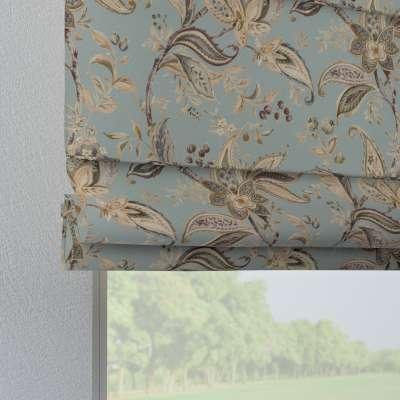 Foldegardin Verona<br/>Med stropper til gardinstang 142-18 Naturhvid med print Kollektion Gardenia