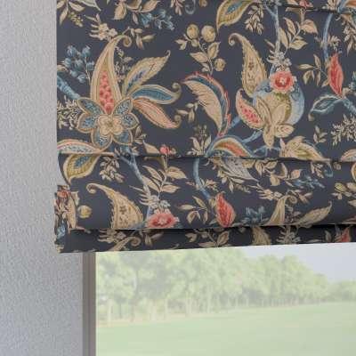 Foldegardin Verona<br/>Med stropper til gardinstang 142-19 Naturhvid med print Kollektion Gardenia
