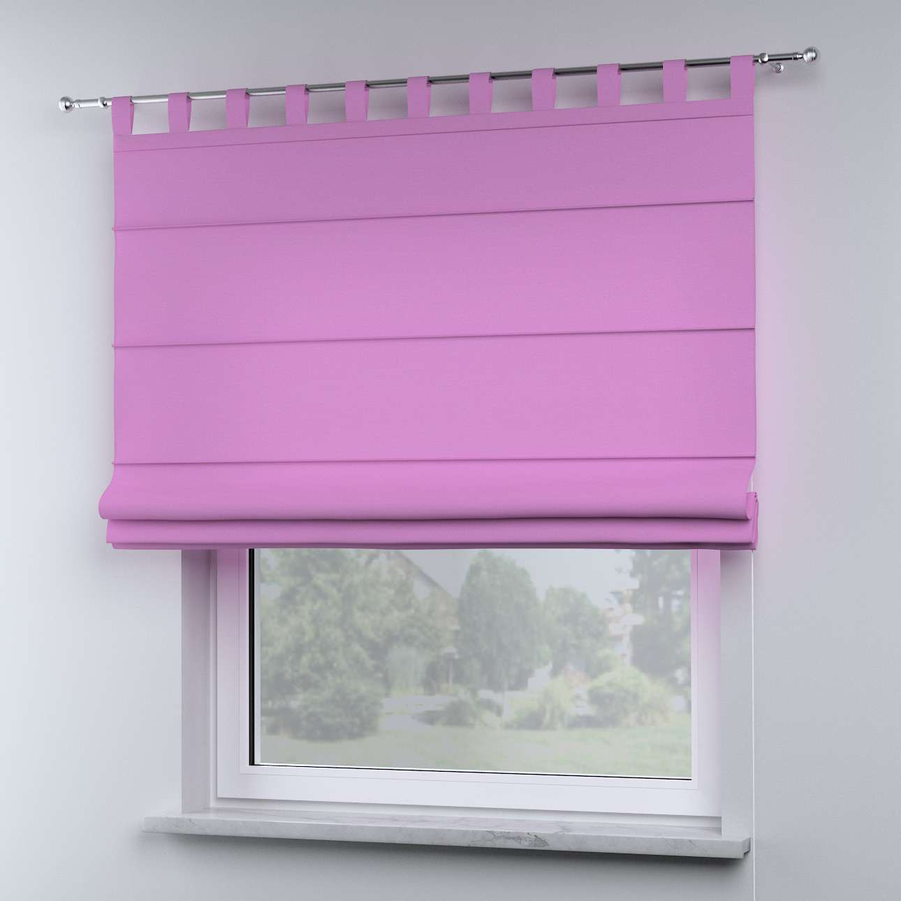 Oli tab top roman blind in collection Happiness, fabric: 133-38