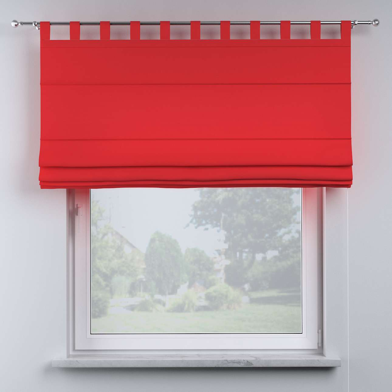 Oli tab top roman blind in collection Happiness, fabric: 133-43