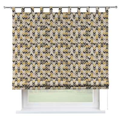 Foldegardin Verona<br/>Med stropper til gardinstang 142-79 Naturhvid med print Kollektion Modern