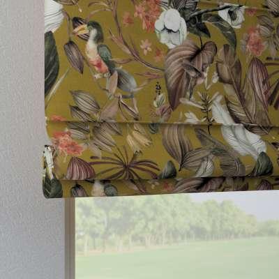 Foldegardin Verona<br/>Med stropper til gardinstang 143-09 Naturhvid med print Kollektion Abigail