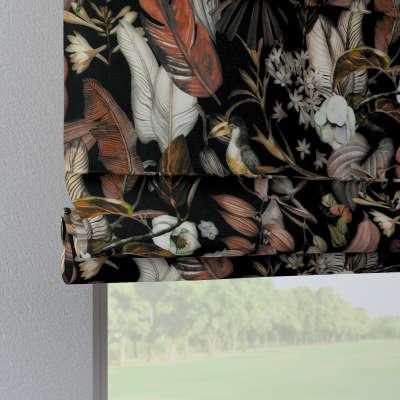 Roleta rzymska Verona 143-10 kolorowe kwiaty na czarnym tle Kolekcja Abigail