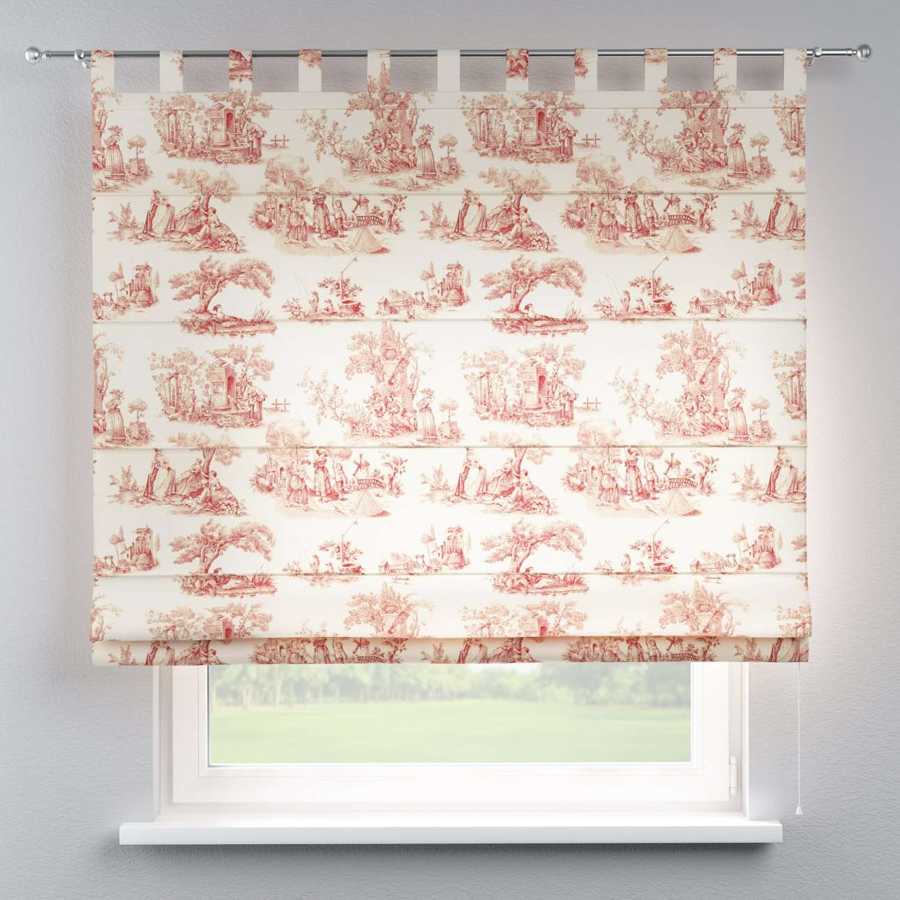 Foldegardin Verona<br/>Med stropper til gardinstang 80 x 170 cm fra kollektionen Avinon, Stof: 132-15