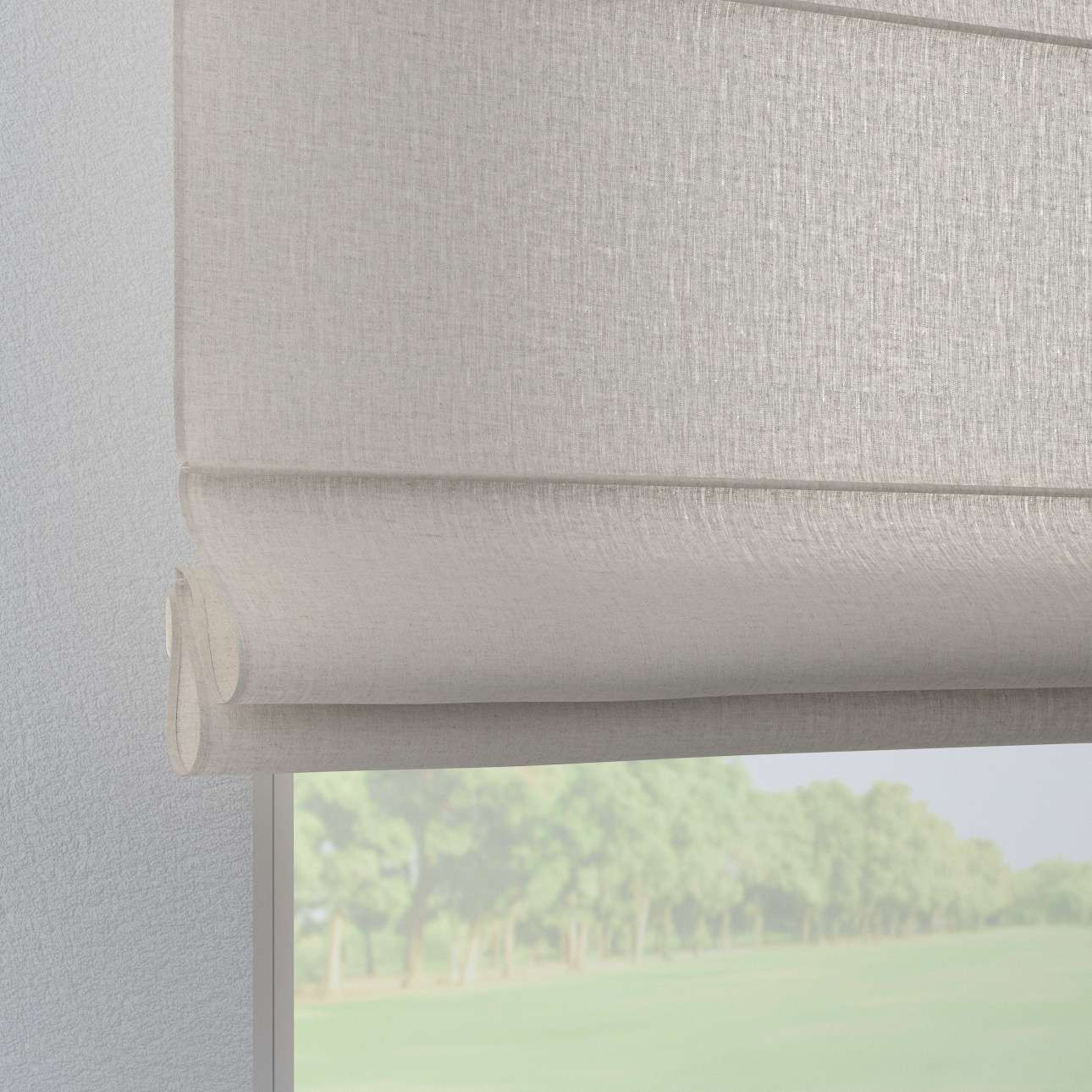 Verona tab top roman blind in collection Linen, fabric: 159-07