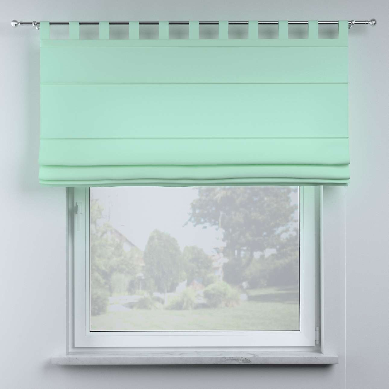 Oli tab top roman blind in collection Happiness, fabric: 133-37