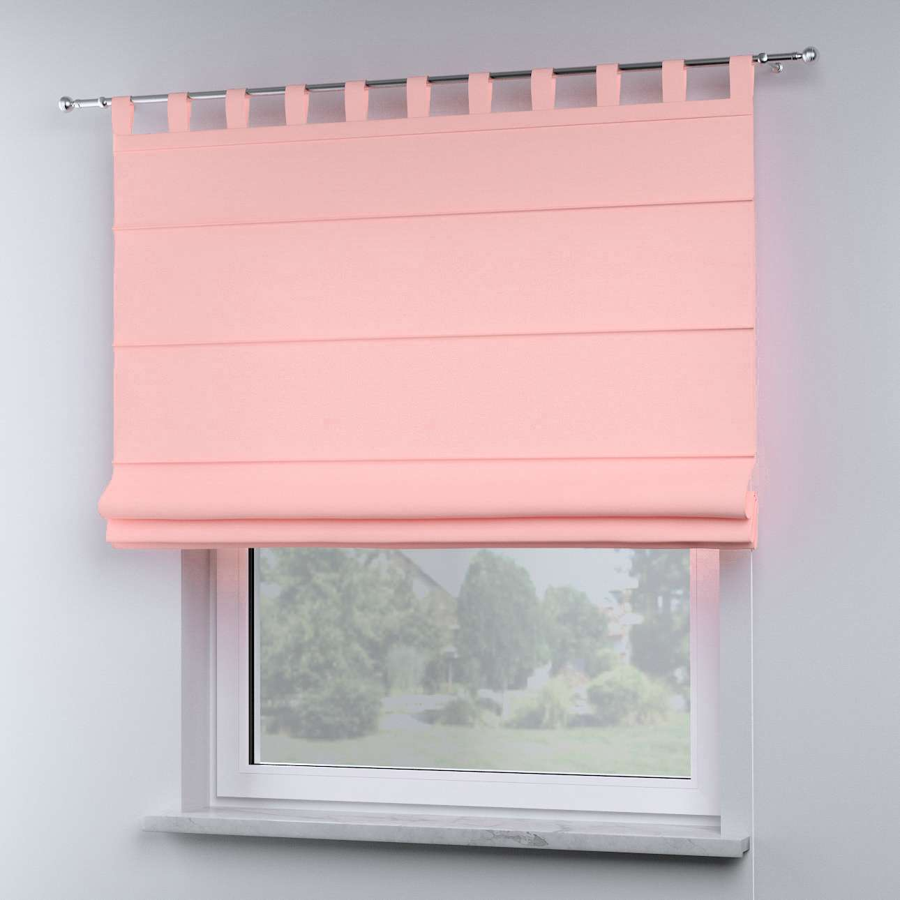Oli tab top roman blind in collection Happiness, fabric: 133-39