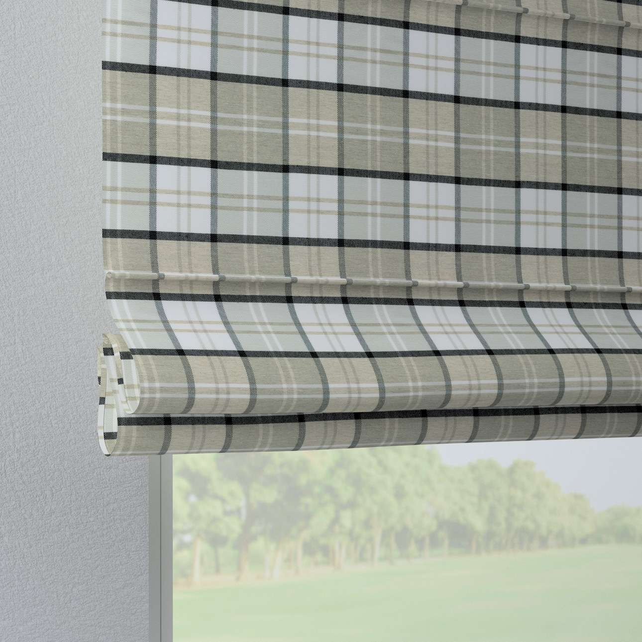 Foldegardin Verona<br/>Med stropper til gardinstang fra kollektionen Bristol, Stof: 143-64