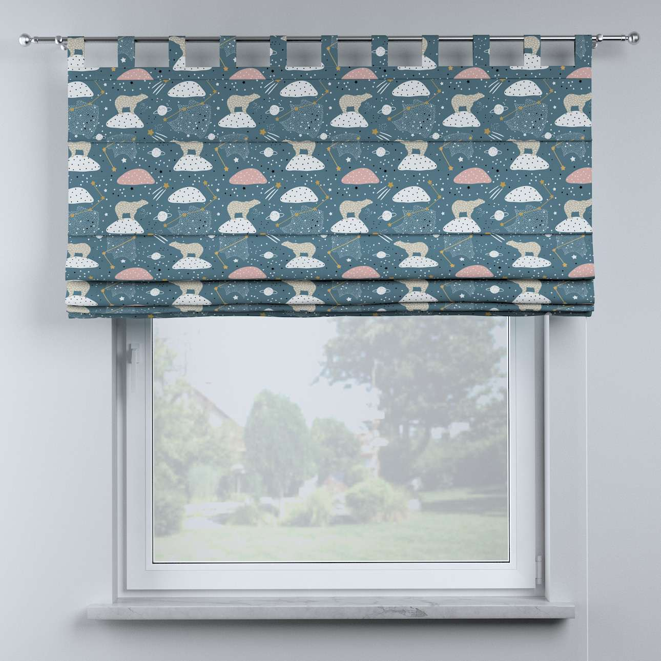 Oli tab top roman blind in collection Magic Collection, fabric: 500-45