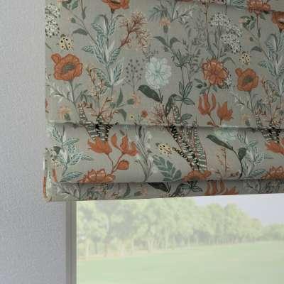 Raffrollo Verona 143-70 grau-orange-grün Kollektion Flowers