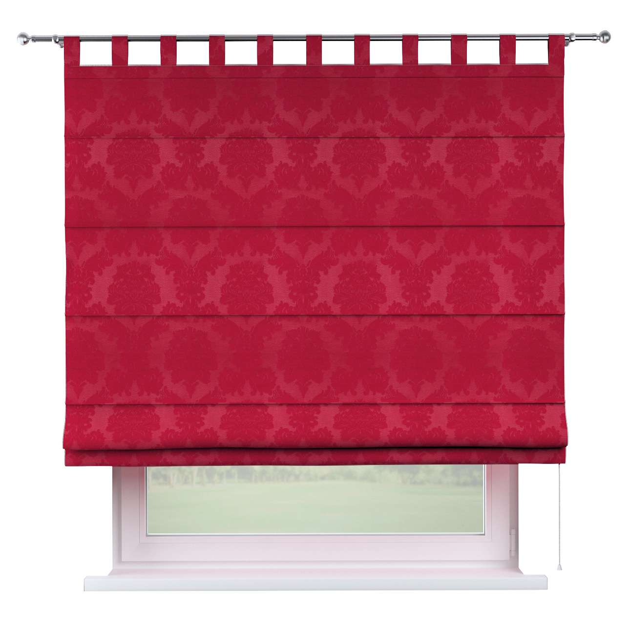 Verona tab top roman blind 80 x 170 cm (31.5 x 67 inch) in collection Damasco, fabric: 613-13