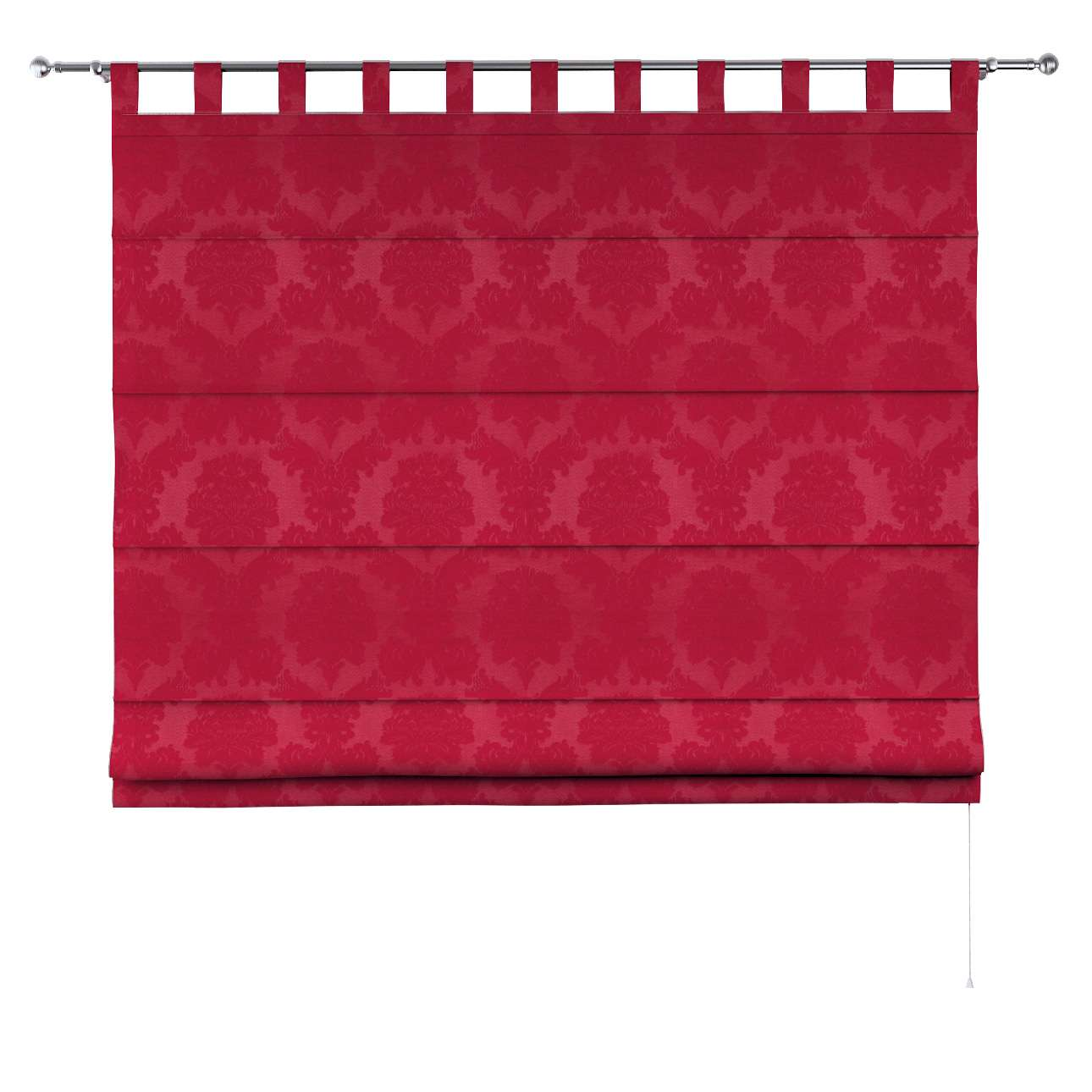 Foldegardin Verona<br/>Med stropper til gardinstang fra kollektionen Damasco, Stof: 613-13