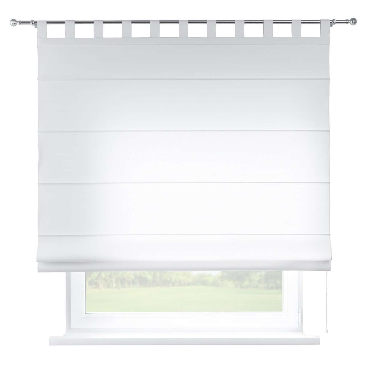 Verona tab top roman blind 80 x 170 cm (31.5 x 67 inch) in collection Jupiter, fabric: 127-01
