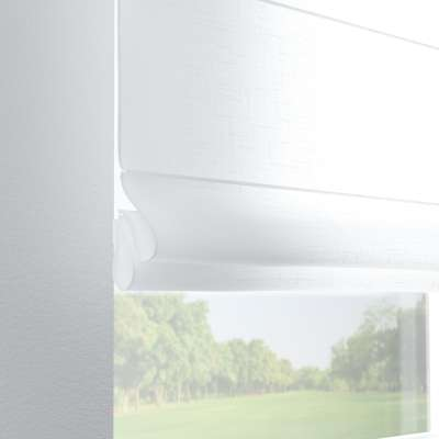 Foldegardin Verona<br/>Med stropper til gardinstang 128-77 Hvid Kollektion Romantik