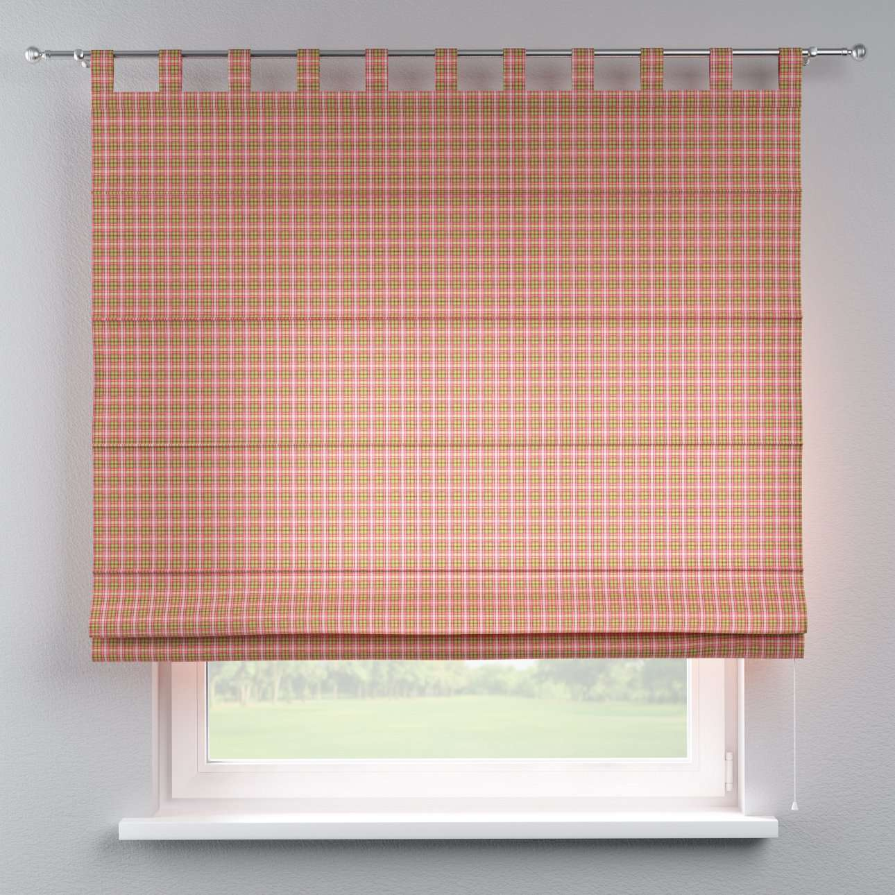 Verona tab top roman blind 80 x 170 cm (31.5 x 67 inch) in collection Bristol, fabric: 126-25