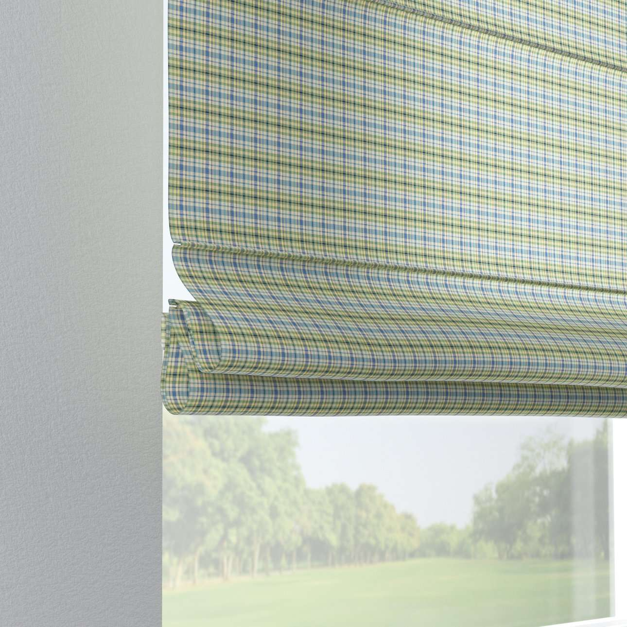 Verona tab top roman blind 80 × 170 cm (31.5 × 67 inch) in collection Bristol, fabric: 126-69