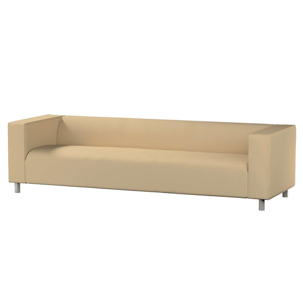 Klippan 4-Sitzer Sofabezug, caffe latte, Klippan 4-Sitzer, Cotton Panama