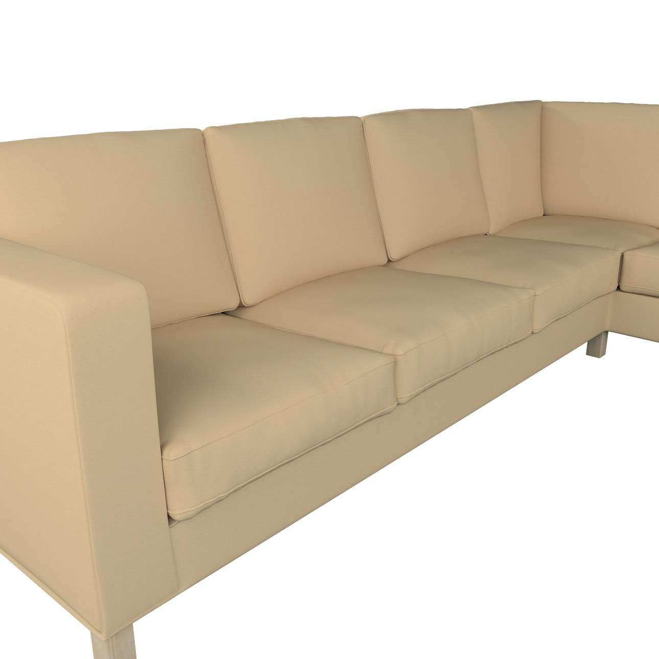 Pokrowiec na sofę narożną lewostronną Karlanda w kolekcji Cotton Panama, tkanina: 702-01