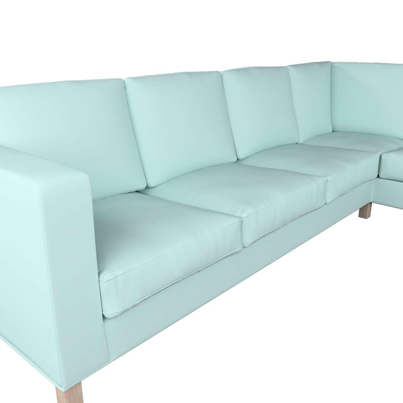 Pokrowiec na sofę narożną lewostronną Karlanda w kolekcji Cotton Panama, tkanina: 702-10