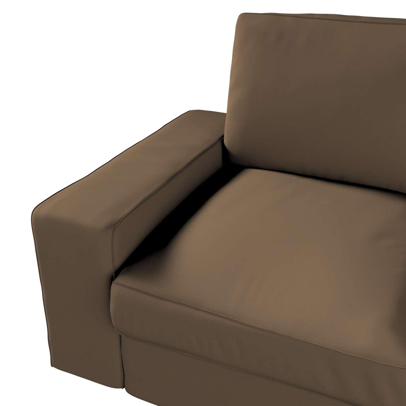 Pokrowiec na sofę Kivik 2-osobową, nierozkładaną w kolekcji Cotton Panama, tkanina: 702-02