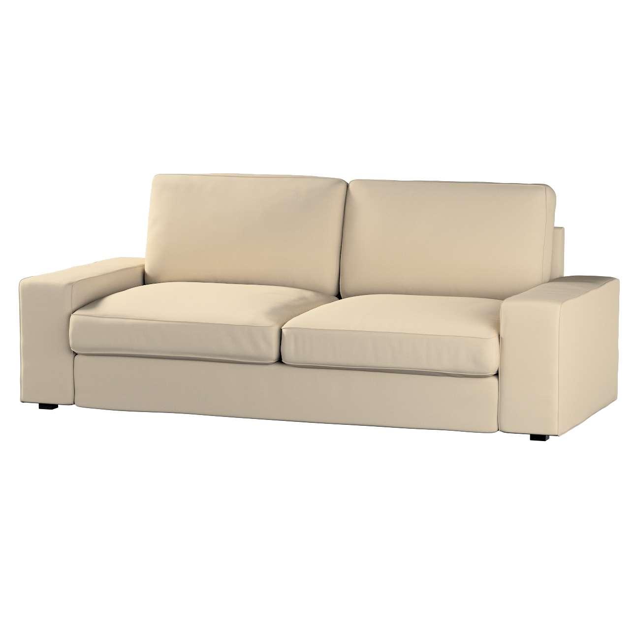 Pokrowiec na sofę Kivik 3-osobową, nierozkładaną Sofa Kivik 3-osobowa nierozkładana w kolekcji Cotton Panama, tkanina: 702-01