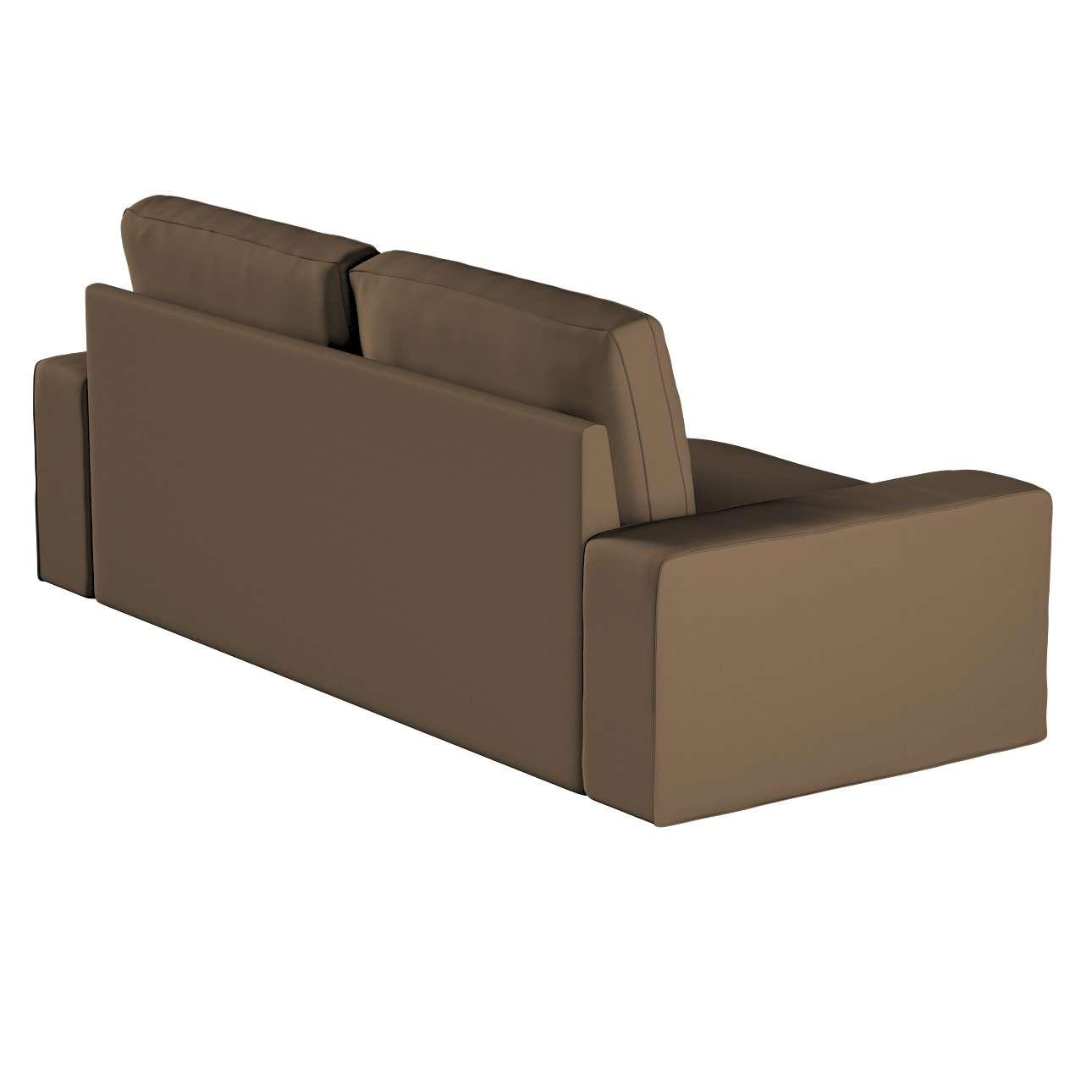Pokrowiec na sofę Kivik 3-osobową, nierozkładaną w kolekcji Cotton Panama, tkanina: 702-02