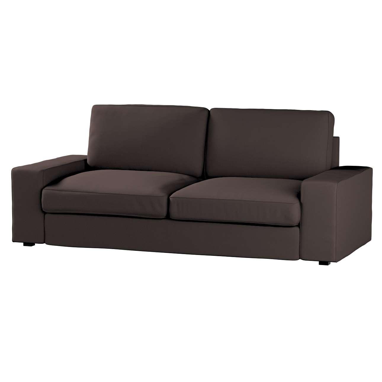 Pokrowiec na sofę Kivik 3-osobową, nierozkładaną Sofa Kivik 3-osobowa nierozkładana w kolekcji Cotton Panama, tkanina: 702-03