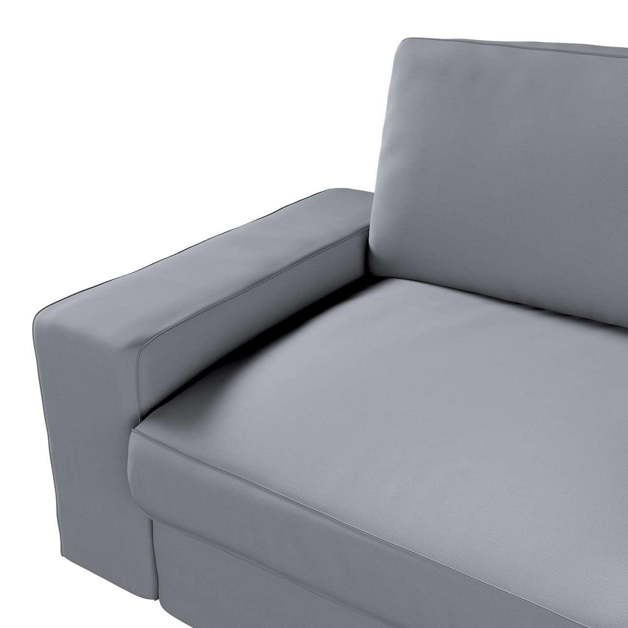 Pokrowiec na sofę Kivik 3-osobową, nierozkładaną w kolekcji Cotton Panama, tkanina: 702-07