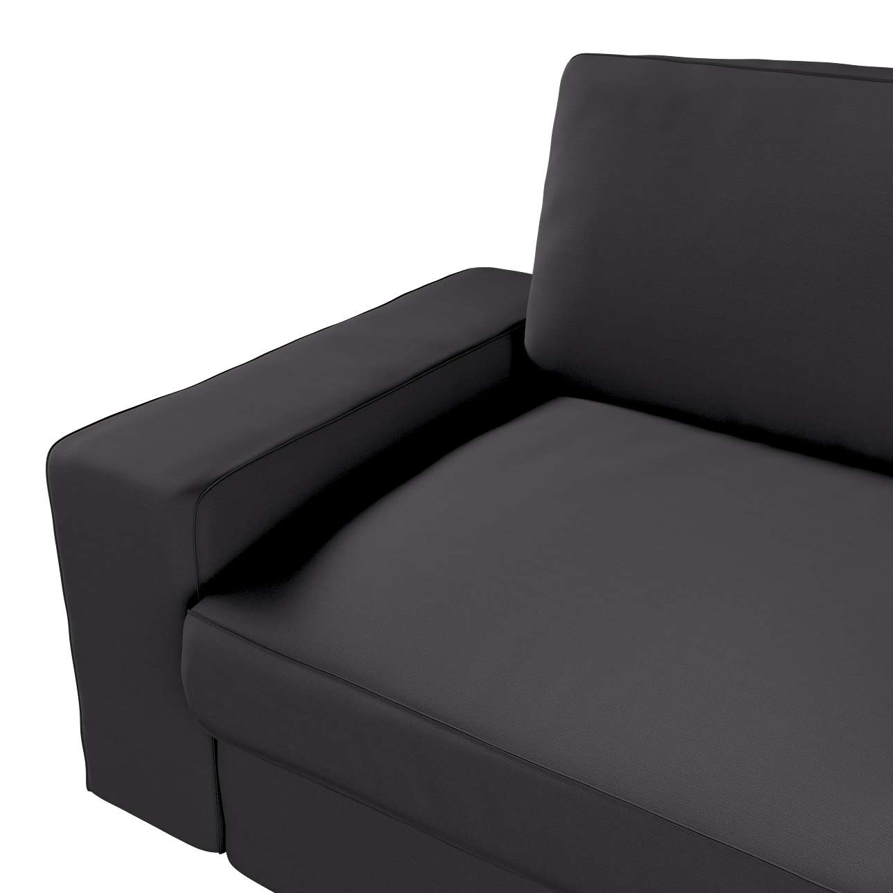 Pokrowiec na sofę Kivik 3-osobową, nierozkładaną w kolekcji Cotton Panama, tkanina: 702-08