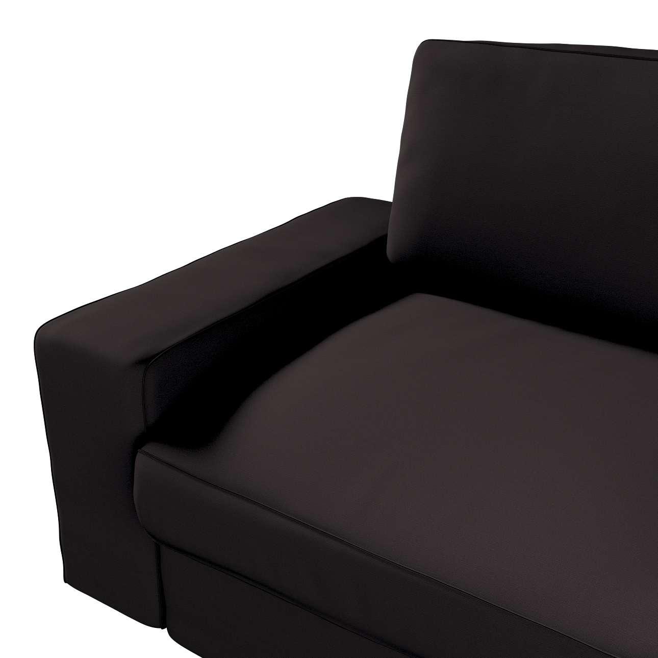 Pokrowiec na sofę Kivik 3-osobową, nierozkładaną w kolekcji Cotton Panama, tkanina: 702-09