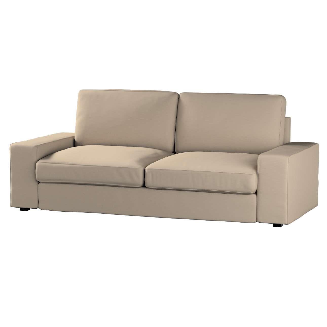 Pokrowiec na sofę Kivik 3-osobową, nierozkładaną Sofa Kivik 3-osobowa nierozkładana w kolekcji Cotton Panama, tkanina: 702-28