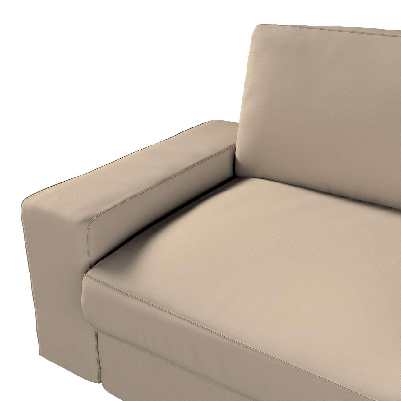 Pokrowiec na sofę Kivik 3-osobową, nierozkładaną w kolekcji Cotton Panama, tkanina: 702-28