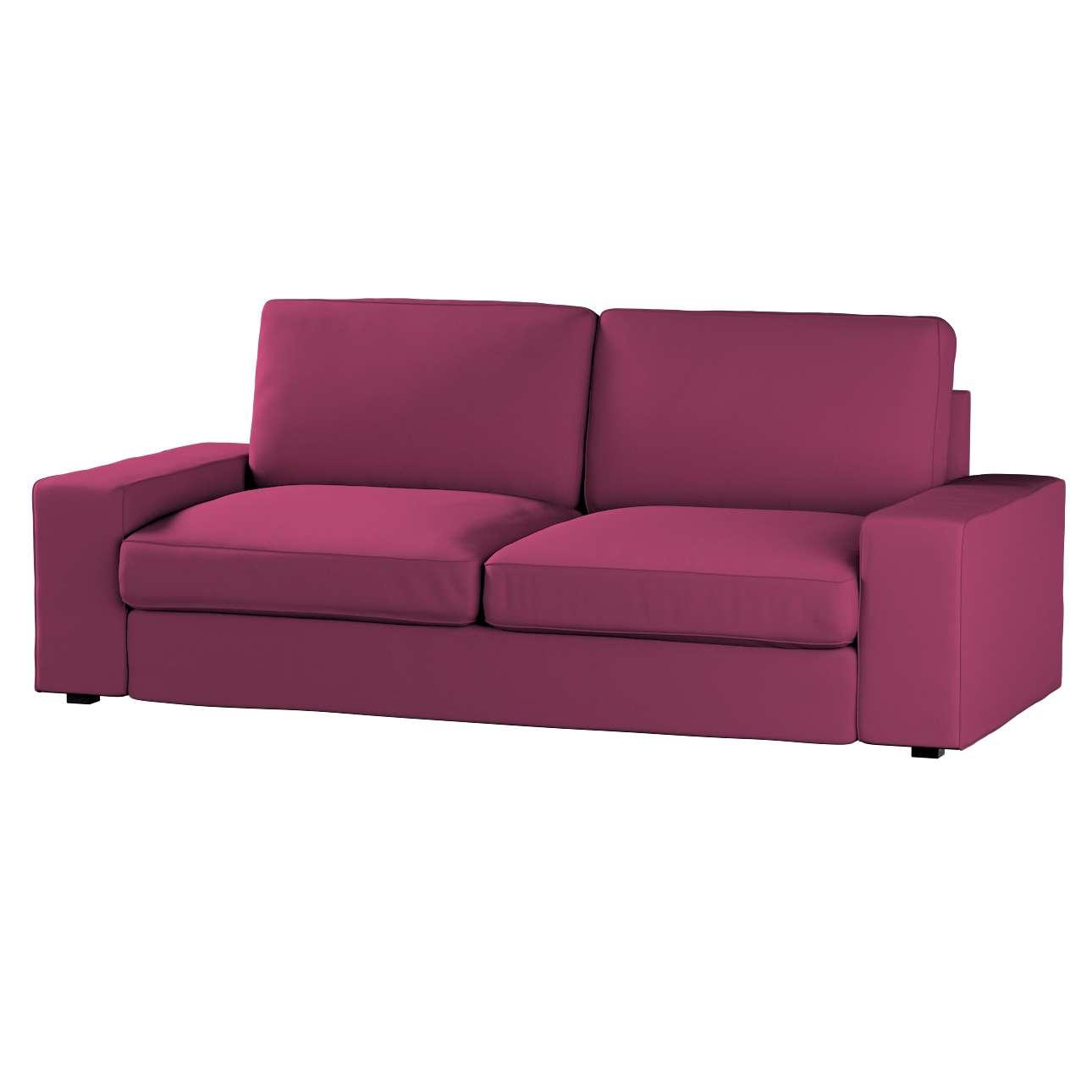 Pokrowiec na sofę Kivik 3-osobową, nierozkładaną Sofa Kivik 3-osobowa nierozkładana w kolekcji Cotton Panama, tkanina: 702-32